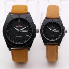 Harga Swiss Army Jam Tangan Couple Leather Strap Sa188Ar Terbaru