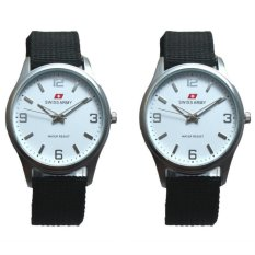 Spesifikasi Swiss Army Jam Tangan Couple Silver Dove Couple Sa 55 Black Bezel Putih Tali Kanvas Lengkap
