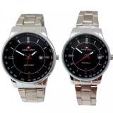 Miliki Segera Swiss Army Jam Tangan Couple Silver Stainless Dial Hitam Sa 509 Art