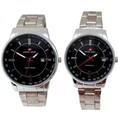 Harga Swiss Army Jam Tangan Couple Silver Stainless Dial Hitam Sa 509 P Merk Swiss Army