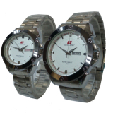 Jual Swiss Army Jam Tangan Couple Silver Stainless Steel Sa 646 D Swiss Army Online