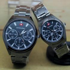 MURAH! jam tangan couple silver goldIDR90000. Rp 90.000. Swiss Army .