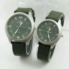 Swiss army - Jam Tangan Couple - Stainless Steel Kanvas - SA 1454 DB Green