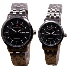 Swiss Army Jam Tangan Couple Stainless Steel Sa 1241 Black Couple Diskon Akhir Tahun