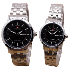 Harga Swiss Army Jam Tangan Couple Stainless Steel Sa 1241 Silver Black Couple Termurah