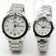 Beli Swiss Army Jam Tangan Couple Stainless Steel Sa 1591 Silver White Online