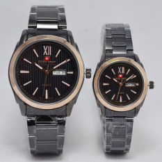 Swiss Army Jam Tangan Couple Stainless Steel Sa 1610 Black Gold Diskon Akhir Tahun