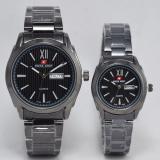 Spesifikasi Swiss Army Jam Tangan Couple Stainless Steel Sa 2130 Black Yang Bagus