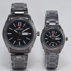 Toko Swiss Army Jam Tangan Couple Stainless Steel Sa 2130 Black Terdekat