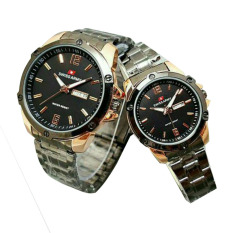 Swiss Army - Jam Tangan Couple - Stainless Steel - SA X003131 Black Gold
