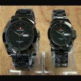 Promo Swiss Army Jam Tangan Couple Stainless Steel Sa51 Akhir Tahun