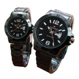 Jual Swiss Army Jam Tangan Couple Stainless Steel Strap Black Swiss Army Ori