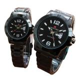 Beli Swiss Army Jam Tangan Couple Stainless Steel Strap Black Kredit