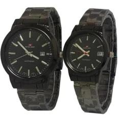 Obral Swiss Army Jam Tangan Couple Stainless Stell Sa 3649 Black Murah