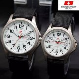 Diskon Swiss Army Jam Tangan Couple Strap Kanvas Al 827Yart3 Hitam Branded
