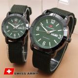 Spesifikasi Swiss Army Jam Tangan Couple Strap Kanvas Hijau Dial Hijau Sa 0042 Cp Online