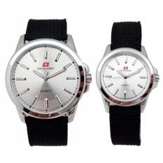 Swiss Army Jam Tangan Couple Strap Kanvas Hitam Dial Putih Sa 5093 White Di Indonesia