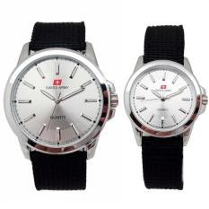 Spesifikasi Swiss Army Jam Tangan Couple Strap Kanvas Hitam Dial Putih Sa 5093 White Terbaru