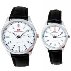 Spesifikasi Swiss Army Jam Tangan Couple Strap Kulit Hitam Dial Putih Sa 1885 Cpelan Yg Baik