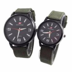 Swiss Army - Jam Tangan Couple - Tali Canvas Hijau