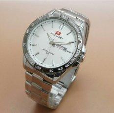Jual Swiss Army Jam Tangan Formal Pria Stainlesstell Strap Sa5093L Silver