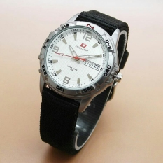 Spesifikasi Swiss Army Jam Tangan Kasual Ladies Strap Canvas Sa 1493 Black White Ladies Lengkap