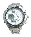 Review Toko Swiss Army Jam Tangan Pria 1501 Dual Time Body Silver Bezer Putih Online