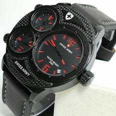 Swiss Army Triple Time - Jam Tangan Fashion Pria - Tali Kulit - TerbaruIDR149900. Rp 151.000