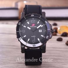 Swiss Army - Jam Tangan Pria - Body Black - Black Dial - Black Leather - SA-KLT-3988C-TGL-BB-BLACK