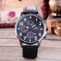 Jual Swiss Army Jam Tangan Pria Body Black Black Dial Black Leather Strap Sa Klt 4035B Tgl Bb Black Leather Cl Ori