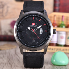 Situs Review Swiss Army Jam Tangan Pria Body Black Black Dial Black Leather Strap Sa Klt 3892A Bb