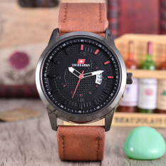 Review Tentang Swiss Army Jam Tangan Pria Body Black Black Dial Brown Leather Strap Sa Klt 3892B Bb