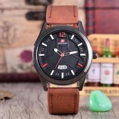 Promo Swiss Army Jam Tangan Pria Body Black Black Dial Brown Leather Strap Sa Klt 3893B Coklat Akhir Tahun