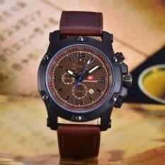 Beli Swiss Army Jam Tangan Pria Body Black Brown Dial Coklat Muda Leather Sa 3597B Bc Tgl Kulit Coklat Tua Online Murah
