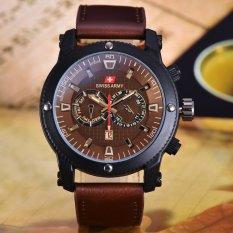 Toko Swiss Army Jam Tangan Pria Body Black Brown Leather Sa 3596A Bc Tgl Yang Bisa Kredit