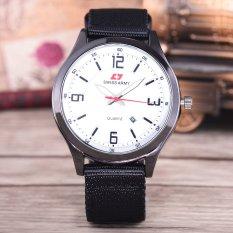 Swiss Army Jam Tangan Pria - Body Black – White Dial – Black Nylon Strap - SA-NYL-6730B-Putih