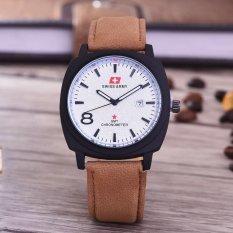 Harga Swiss Army Jam Tangan Pria Body Black White Dial Coklat Muda Leather Sa 3595B Bw Tgl Kulit Coklat Original