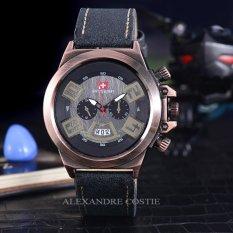 Harga Swiss Army Jam Tangan Pria Body Bronze Black Dial Sa 2459A Bb Black Leather Satu Set