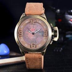 Beli Swiss Army Jam Tangan Pria Body Bronze Brown Dial Tali Kulit Coklat Sa 2461B Bc Tgl Kulit Coklat Online Terpercaya