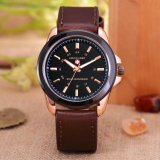 Swiss Army Jam Tangan Pria Body Rose Gold Black Dial Brown Leather Strap Sa 3821 Original