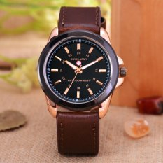 Harga Swiss Army Jam Tangan Pria Body Rose Gold Black Dial Brown Leather Strap Sa 3821 Origin