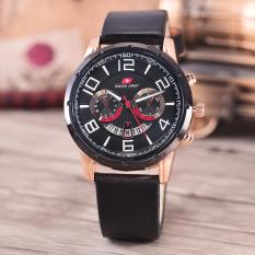 Review Terbaik Swiss Army Jam Tangan Pria Body Rosegold Black Black Dial Black Leather Sa 9001B Rbb Tgl Black Leather