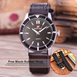 Harga Swiss Army Jam Tangan Pria Body Silver Black Dial Black Leather Sa 5701A Sb Black Leather Murah