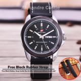 Swiss Army Jam Tangan Pria Body Silver Black Dial Black Leather Benangputih Sa 3821Th D Tgl Hr Swiss Army Diskon