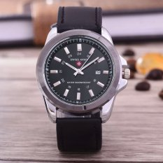 Diskon Produk Swiss Army Jam Tangan Pria Body Silver Black Dial Hitam Leather Band Sa Rk 3821E Sb Tgl