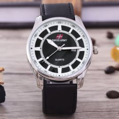 Harga Swiss Army Jam Tangan Pria Body Silver Black Dial Black Leather Band Sa Klt 3381 Tgl Sb Satu Set