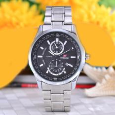 Swiss Army - Jam Tangan Pria - Body Silver - Black Dial - Stainless steel band - SA-5520G-TGL-SB
