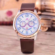Harga Swiss Army Jam Tangan Pria Body Silver Rosegold White Dial Brown Leather Sa 9001A Srw Tgl Brown Leather Termahal