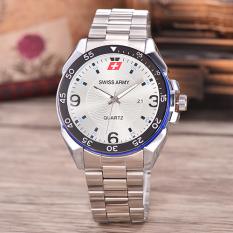 Beli Swiss Army Jam Tangan Pria Body Silver White Dial Sa Rt 6028B Tgl Sw Blue Cl Stainless Stell Band Online Terpercaya