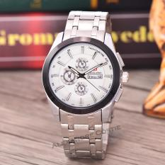 Swiss Army Jam Tangan Pria - Body Silver - White Dial - SA-RT-8839-TGL/HR-SW-Stainless Stell Band